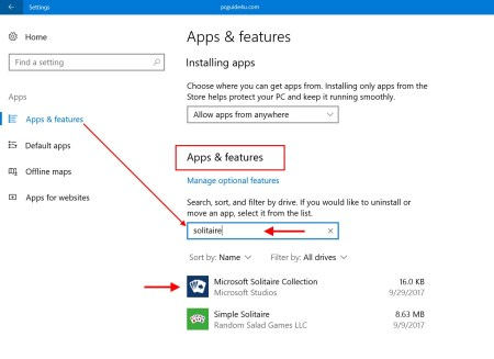 uninstall built-in apps from Windows 10