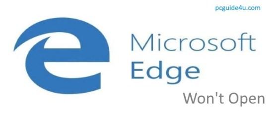 Edge won't open