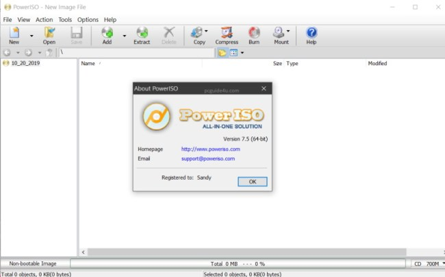 download poweriso