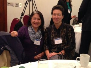 Liza Wajong of the Canada Indonesia Diaspora Society with Tineke Hellwig of PCHC-MoM
