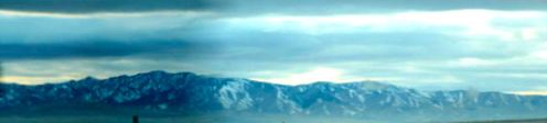 In the relative calm of west of Salt Lake City, we were surrounded by snow dusted mountains.