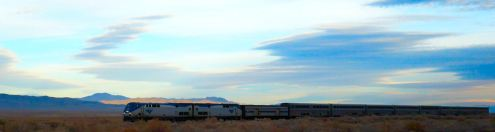 I-80 runs alongside the old Transcontinental route through Utah and Nevada. We passed a passenger trained headed west.