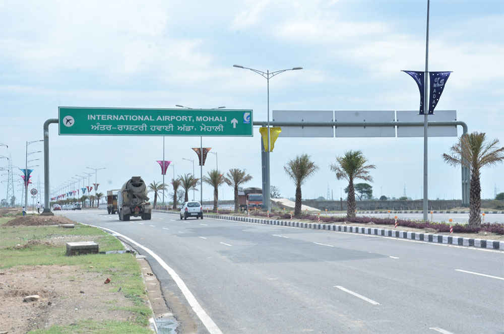 airport road extension to new chandigarh