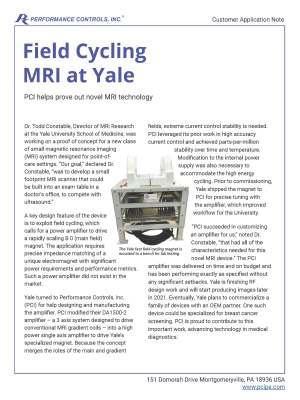 Preview of MRI at Yale Application Note