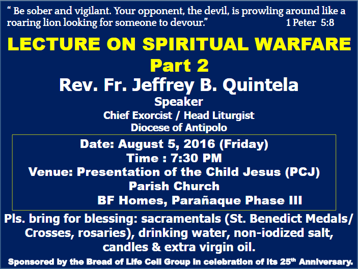 Lecture on Spiritual Warfare Part 2