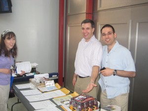 From left: Miserandino and Corry at the silent auction table.