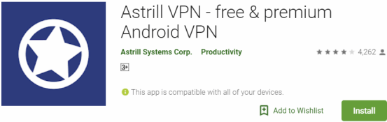 Astrill VPN For Windows