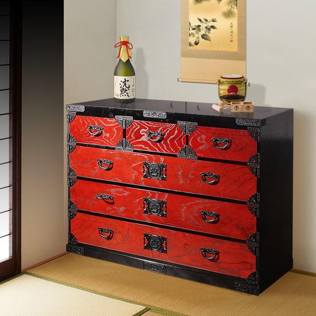 【桐簞笥】雋臻傳世-頂級六階整理簞笥(赤塗)幅120cm 收納櫃 特力家購物網