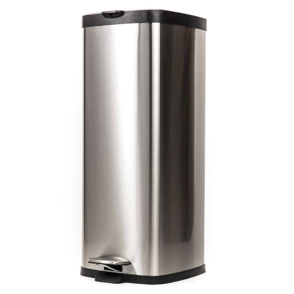 HOLA 方形緩降垃圾桶 30L 砂光|生活百貨|特力家購物網