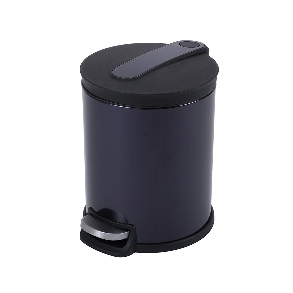 HOLA 阿道夫緩降踏式垃圾桶5L 紫|生活百貨|特力家購物網
