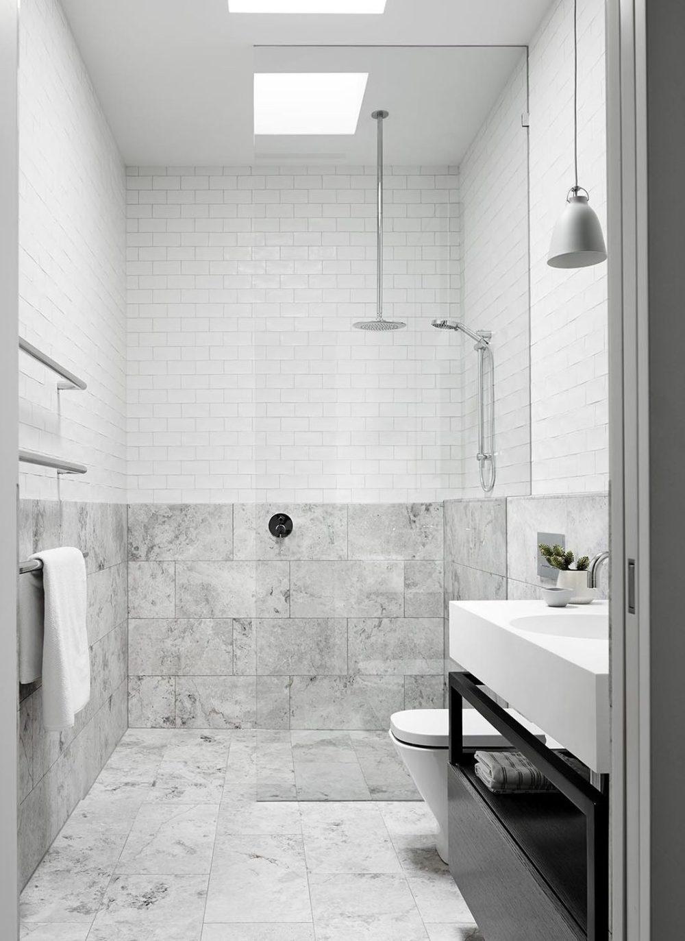 tiled shower base