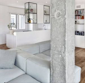 Concrete trend living rooms