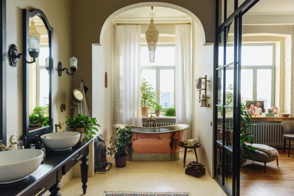 vintage beauty bathroom