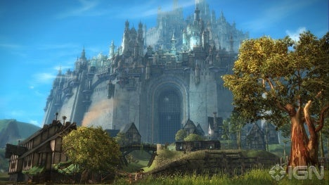 Divinity's Reach - the human home city.