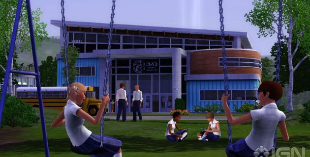 Screen Shot Of Pc Game The Sims 3 Town Life Stuff (2011)