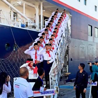 port of call kontingen Indonesia