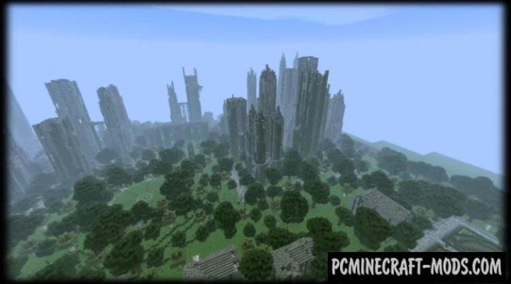 Huge Abandoned City Map For Minecraft 114 1132 PC Java Mods Amp Addons