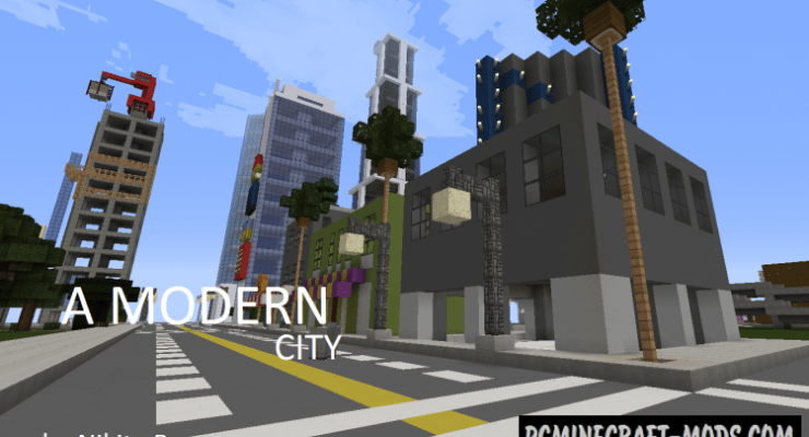 Modern City Map For Minecraft 114 1132 PC Java Mods Amp Addons