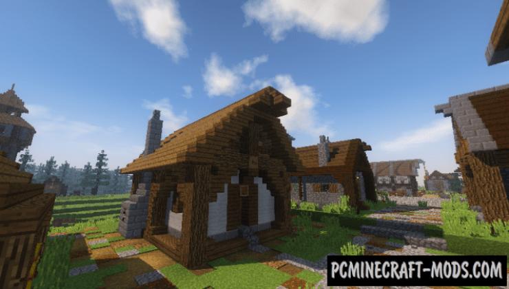 Medieval Village Map For Minecraft 1 16 1 15 2 Pc Java Mods