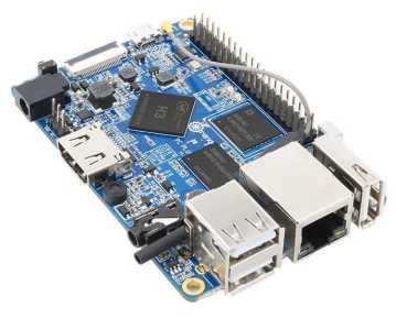 Orange Pi PC Plus - одноплатный мини компьютер с 1Гб RAM, Wi-Fi и 8Гб EMMC Flash