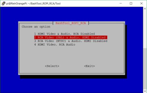 Программа для автоматической настройки вывода видео и звука в RetrOrangePi (HDMI и/или RCA)