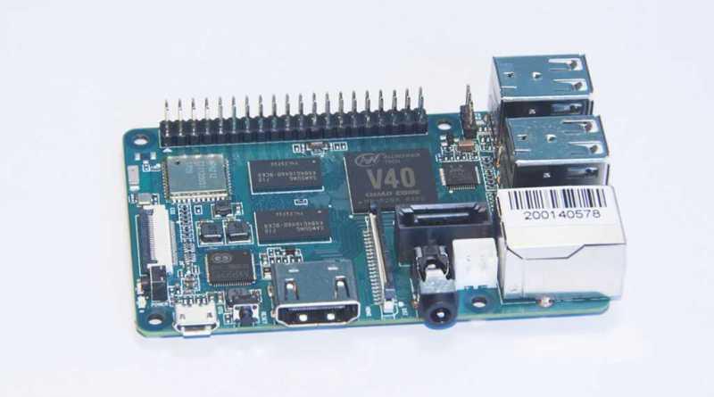 BPI-M2 Berry - четырехъядерный одноплатный компьютер c Allwinner V40, 1Гб RAM, 4 USB