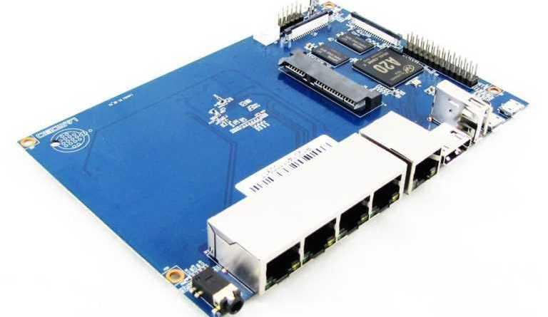 Banana PI BPI-R1 - маршрутизатор с открытым программным обеспечением, SoC Allwinner A20