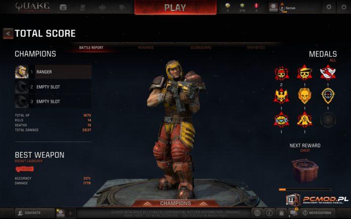Quake Champions - czyli stary dobry Quake w nowej szacie graficznej 2
