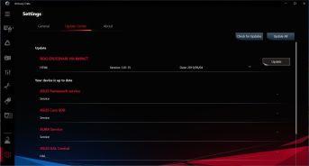 ASUS ROG Crosshair VIII Impact - Armoury Crate - Settings