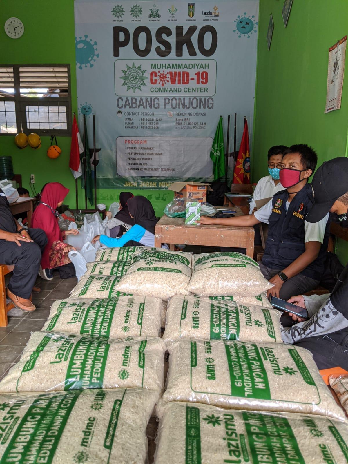 Persiapan Pembuatan Paket Sembako Dampak Wabah COVID 19 MCCC Cabang Ponjong
