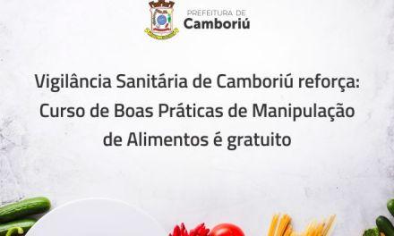 Vigilância Sanitária de Camboriú reforça que oferece curso de boas práticas de forma gratuita