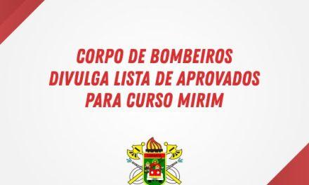 Corpo de Bombeiros divulga lista de aprovados para curso mirim