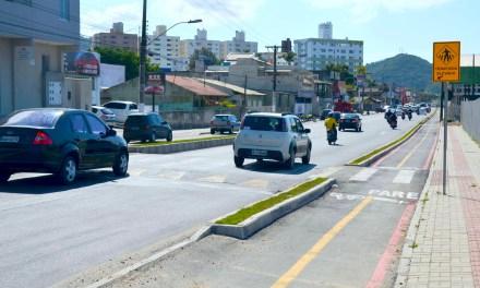 Seguem as obras de requalificação da Avenida Santa Catarina