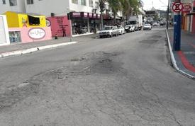 Avenida Palestina terá intervenção no asfalto nesta quinta-feira