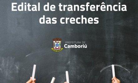 Secretaria de Educação de Camboriú divulga edital para transferência de CEIs
