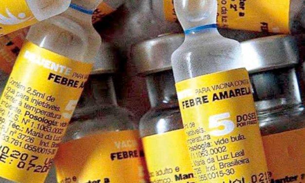 Vacinação contra a febre amarela está disponível para moradores do interior de Navegantes
