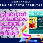 Navegantes terá Ponto Facultativo na segunda e terça de Carnaval