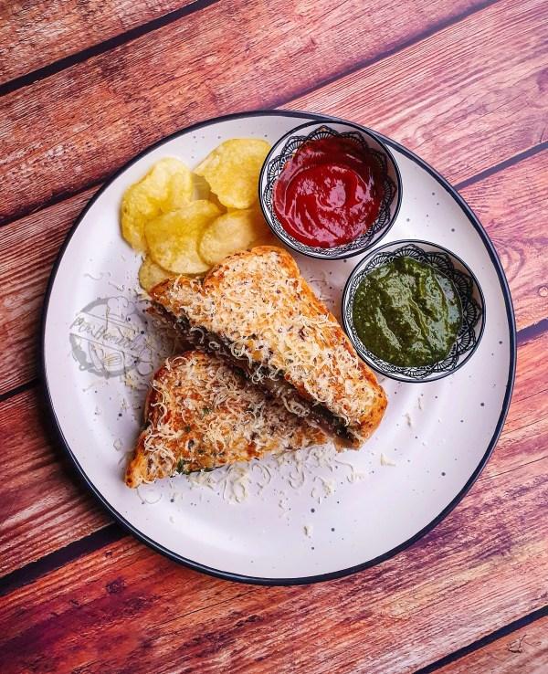 Aloo Cheese Toast Sandwich