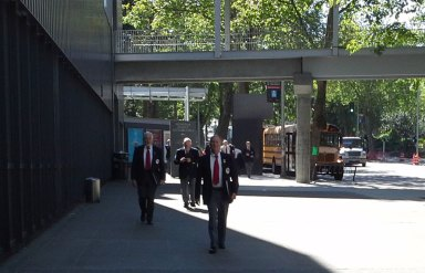 Singers Arriving at McCaw Hall