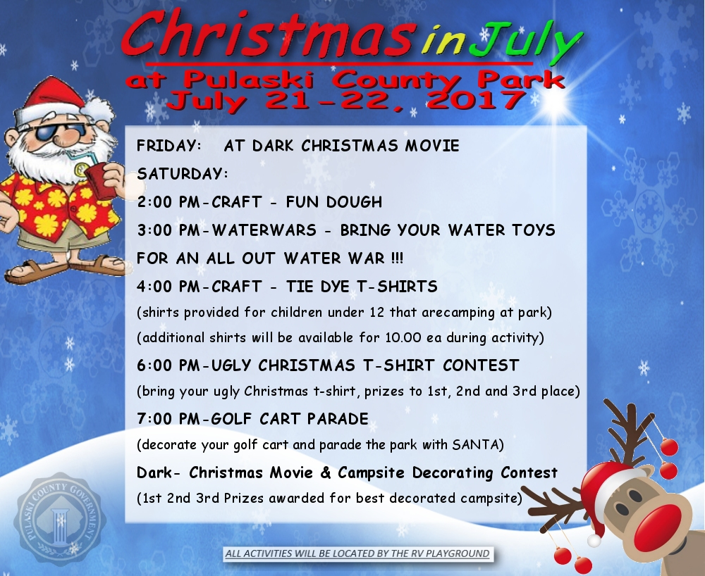 Schedule Of Events For Christmas In July