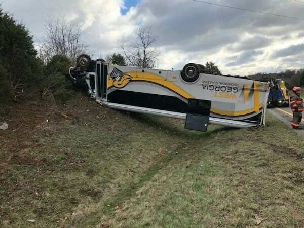 Georgia bus driver charged in Friday morning bus crash