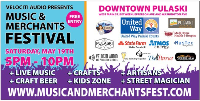 Music and Merchants Festival coming May 19!