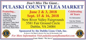 The Pulaski County Flea Market is coming!