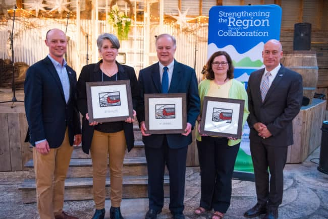 Regional leaders celebrate award winners