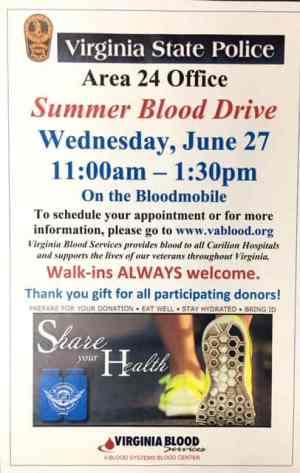 Blood drive scheduled
