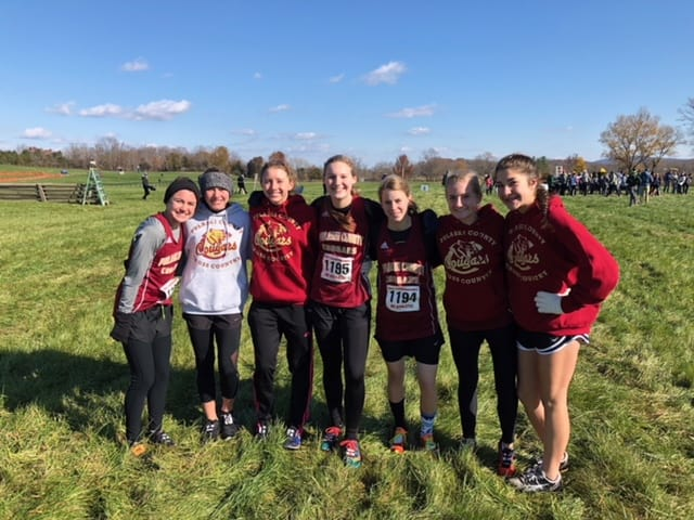 PCHS Girls Cross Country team finishes 8th in State