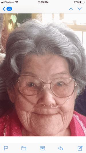 Obituary for Peggy Geraldine Trail
