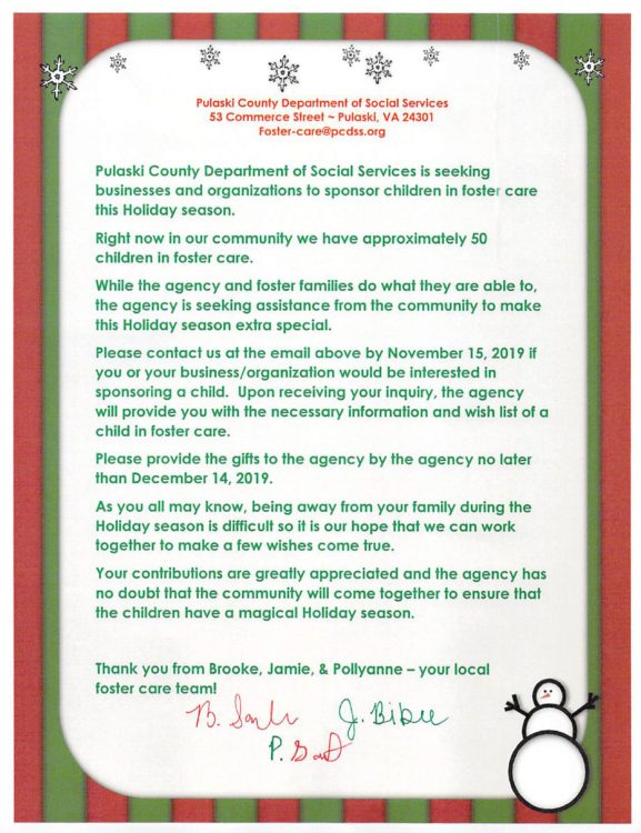 You can help make Christmas for a child in foster care