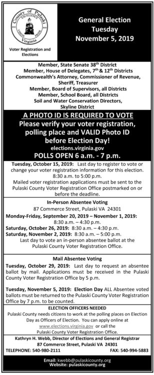 Fourth image of General Election Tuesday Nov 4th with General Election Day is Tuesday, Nov. 5 – PCPatriot