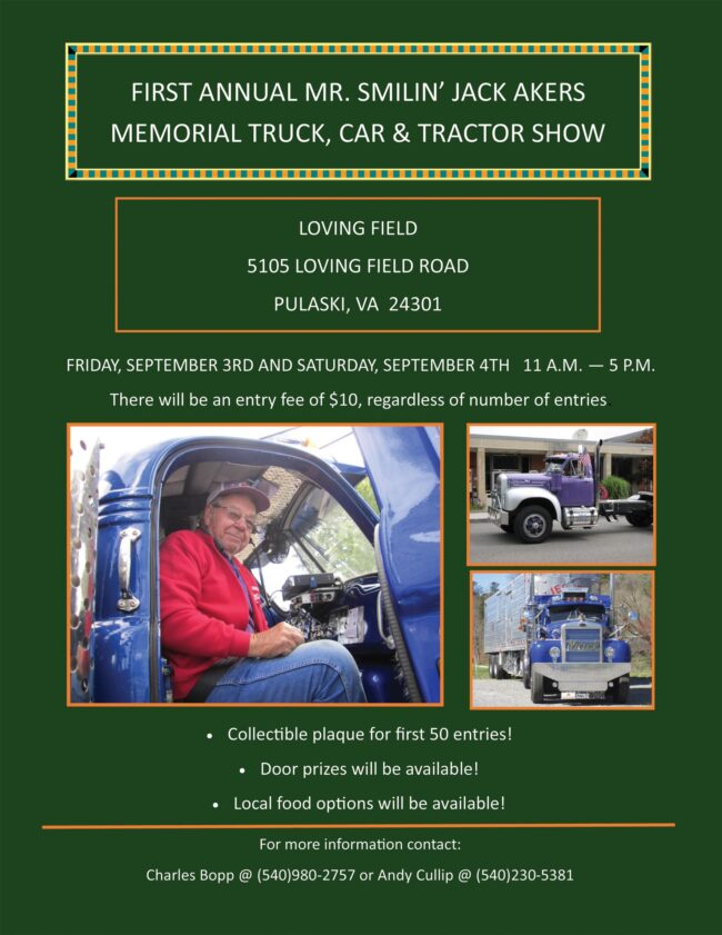 First Annual Mr. 'Smilin' Jack Akers Memorial Truck, Car & Tractor Show